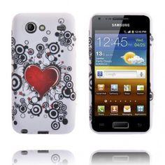 Symphony (Rött Hjärta & Cirklar) Silikonskal Samsung Galaxy S Advance