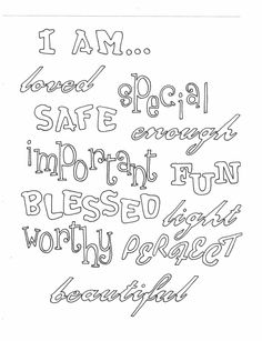 Color all these positive affirmations about yourself. Click here to download on ETSY: https://www.etsy.com/listing/288825785/i-amcoloring-page?ref=listings_manager_grid