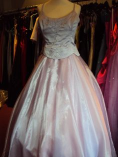 size 16  lilac hire price £45.