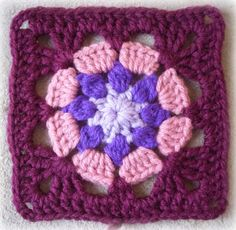Eight Petal Granny Square:   Pattern, crochet, granny square, pattern, crochet pattern