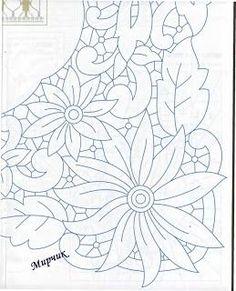 Lene Richelieu and Sheath Open: rechilieu Risks Cutwork Embroidery, Hand Embroidery Designs, Vintage Embroidery, Embroidery Stitches, Embroidery Patterns, Crochet Diagram, Crochet Motif, Lace Patterns, Knife Patterns
