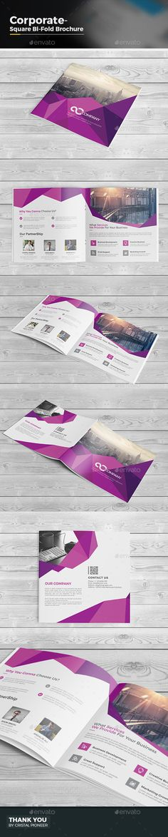 Abstract Square Bi Fold Brochure Template Vector EPS, AI. Download here: http://graphicriver.net/item/abstract-square-bi-fold-brochure/15336125?ref=ksioks