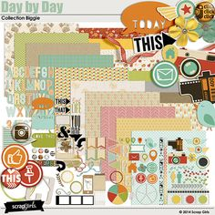 Scrap Girls Day by Day Collection Digital Scrapbooking Kit by Scrap Girls | ScrapGirls.com