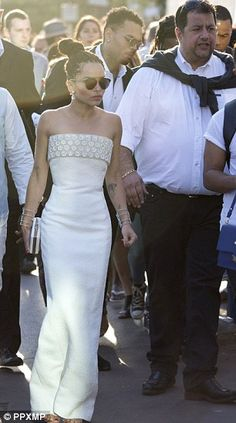 9a4b12573f Pharrell and his wife leave dinner. Zoe Kravitz · White Gowns ...