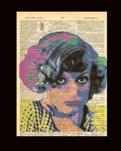 Young Joan Crawford - Dictionary print upcycled art 8x11