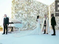 First Look At Kim Kardashian & Kanye West Wedding