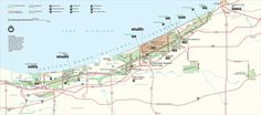 Indiana Dunes National Park Map - Michigan City Indiana USA • mappery