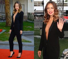 Olivia Wilde Brings Sexy Back in a Black Gucci Suit