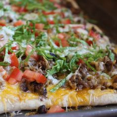 """Homechef blog (@spicesandsprinklesblog) on Instagram: """"Taco Tuesday is coming with a little different style this week…Taco Pizza  #foodie #foodlover…"""""""