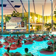 The CineWave in our Wavepool area! #Cinema #Movies #Fun #Water #ThermeErding