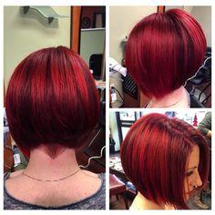 Red Bob Hair, Short Red Hair, Really Short Hair, Short Hair Styles, Bob Haircut Curly, Long Bob Hairstyles, Burgundy Hair Dye, Red Hair Looks, Edgy Hair
