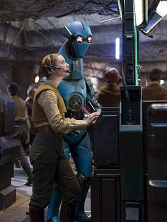 Billie Lourd's character from Star Wars: The Force Awakens