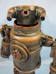 assemblage bull droid by Valerobots on Etsy