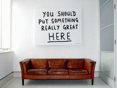 How I feel about having so much wall space!