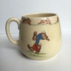Royal Doulton Bunnykins Mug- Dancing and Leapfrog - by Barbara Vernon
