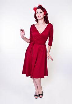 Donna Dress - Burgundy - Heart of Haute  - 2