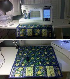 Sewing machine mat tutorial as seen on http://katiesquiltingcorner.com