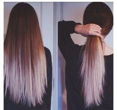 brown to grey ombre hair - Google Search