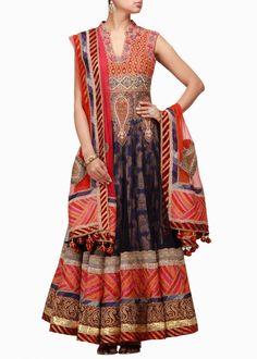 Purple color Long Anarkali Suit available online