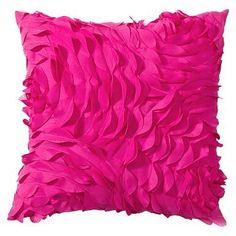 Pretty Petals Pillow, 14X14, Pink Magenta