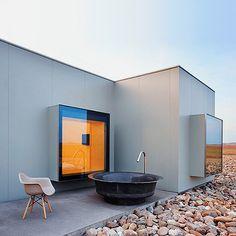 L'hôtel Aire de Bardenas : des cubes en préfabriqué au milieu du désert