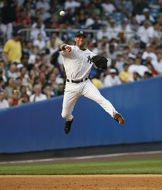 DEREK JETER Jump Throw PICTURES PHOTOS and IMAGES