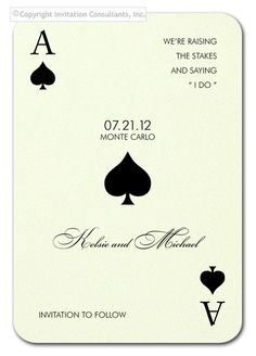 Monte Carlo Save the Date - Party Invitations by Invitation Consultants. (Item # CB-BLU-FUC-T )