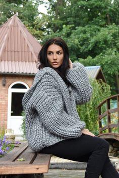 Long Sweater Coat, Oversized Knit Cardigan, Maxi Cardigan, Grey Cardigan, Thick Sweaters, Cardigan Sweaters For Women, Women's Sweaters, Cardigans, Hooded Bomber Jacket