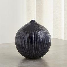 """Rope Indigo Blue Ceramic Vase  8.75"""" tall   $29.95"""