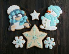 Расписные имбирные пряники, печенье .Москва's photos Cute Christmas Cookies, Snowman Cookies, Christmas Sweets, Christmas Baking, Christmas Decorations, Xmas, Royal Icing Cookies, Cake Cookies, Sugar Cookies