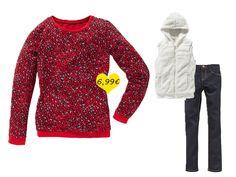 Shirt im angesagten Leopardenmuster - eine tolle Kombi zu unserer Jeans (€ 7,99) oder unter einer Fleeceweste (€ 7,99).