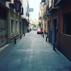 Our street here in Granada Spain. #oldroad #landscape
