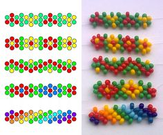 *daisy chain variations, use Translate on the sitePeyote-Stitch Daisy Bracelet - step by step ~ Seed Bead Tutorials - Salvabrani All that changes is the color: easy peasydaisy chain bracelets and chokers were all the rave when I was in high school; Seed Bead Patterns, Beaded Jewelry Patterns, Beading Patterns, Bracelet Patterns, Beading Techniques, Beading Tutorials, Beading Projects, Beaded Beads, Beads And Wire