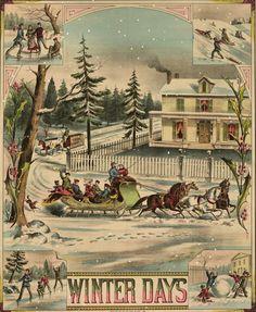 Victorian winter days. #vintage #Christmas #illustrations