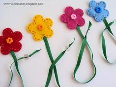 vilten bloemen boekenlegger
