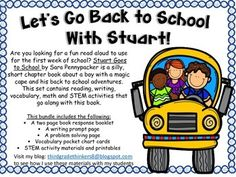 Are you looking for a fun read aloud to use for the first week of school? Stuart Goes to School by Sara Pennypacker is a silly, short chapter book about a boy with a magic cape and his back to school adventures. This set contains reading, writing, vocabulary, math and STEM activities that go along with this book.
