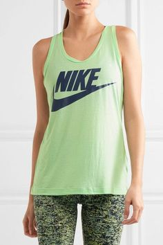 Nike - Essential Printed Jersey Tank - Mint - medium
