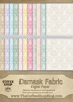 Free Damask digital paper