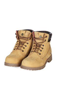 Venda Calçado Adulto e Criança / 8148 / Wrangler / Mulher Winter / Sapatos de Couro Tan. De 105€ por 52€.