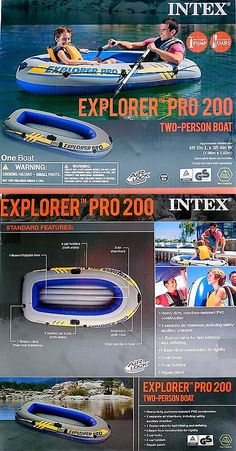 Inflatables 87090: Intex Explorer Pro 200 Two Person Boat Inflatable Raft With Air Lock Technology -> BUY IT NOW ONLY: $33.56 on eBay!