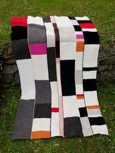 domino knitting in Rauma Fine Wool