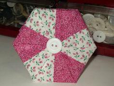 Polka Dot Pineapple: Tutorial--Folded Hexagon Needlebook