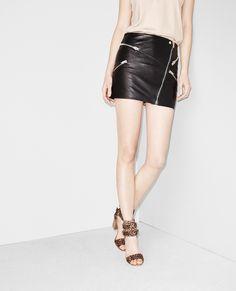 Lambskin leather zip skirt - Skirts & Shorts - Women - The Kooples