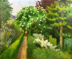 John Aldridge RA. The Path through the Garden, Great Bardfield.