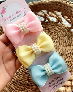 Making Hair Bows, Diy Hair Bows, Diy Ribbon, Ribbon Bows, Baby Bows, Baby Headbands, Little Girl Crafts, Baby Girl Items, Baby Girl Hair Accessories