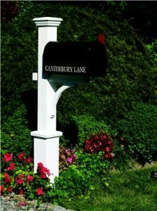 Canterbury Mail Post with Optional Mailbox. Product in photo is from www.wellappointedhouse.com