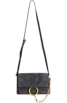 chlo small faye calfskin leather shoulder bag available at nordstrom