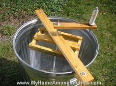homemade honey extractor
