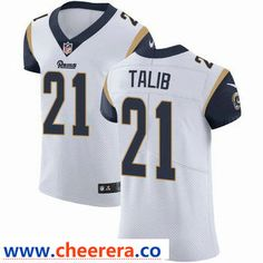 f73ee140d6c Nike Los Angeles Rams #21 Aqib Talib White Men's Stitched NFL Vapor  Untouchable Elite Jersey