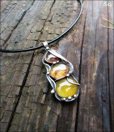 Náhrdelník - juicy orange šperk náhrdelník tiffany oranžový skleněný cínovaný handmade